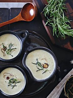 Creamy Rosemary Leek Soup Recipe | Entertaining Ideas & Party Themes for Every Occasion | HGTV >> http://www.hgtv.com/design/make-and-celebrate/entertaining/creamy-rosemary-leek-soup?soc=pinterest