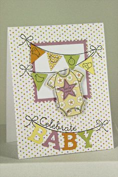 Celebrate Baby Card by Erin Lincoln for Papertrey Ink (June 2012)