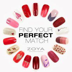 Valentines Day Looks with Zoya Nail Polish - Zoya Nail Polish, Zoya Nail Care Treatments and Zoya Hot Lips Lip Gloss