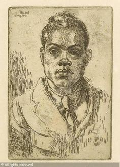 UNDERWOOD Leon George Claude, 1890-1975 Title : A portrait of Mukul Dey