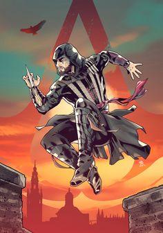 Assassin's Creed - Aguilar - #assassinscreed #assassinscreedmocie #abstergo #ubisoft #comics #artwork #drawing #drawer #artist #creation #creative #artbook #tribute #colors #outfit #inking #pencils #sketch #character #assassinscreedsaga #animus #comicbook #art #illustration #assassin #videogame #game #Aguilar #michaelfassbender #Fassbender