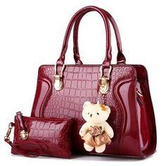 75c4e4919be7 High quality fashion women handbag top-handle vintage tote bag Patent  Leather