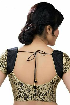 Must check out the new styles of Indian saree blouse designs front and back styles. All of these saree blouse designs are full of attractive colors. Brocade Blouse Designs, Saree Blouse Neck Designs, Simple Blouse Designs, Brocade Blouses, Stylish Blouse Design, Designer Blouse Patterns, Bridal Blouse Designs, Saree Blouse Patterns, Pattern Blouses For Sarees