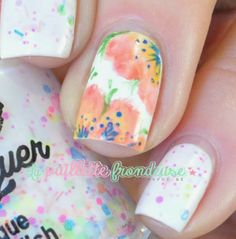 Nailstorming - finger painting with acrylic paints - polish me silly haywire - #nail #nails #nailart http://lapaillettefrondeuse.blogspot.be/2014/02/nailstorming-44-retour-en-enfance.html