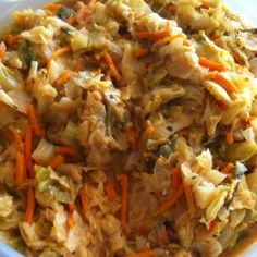 Low calorie dinner.. Asian cabbage