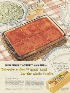 1950s Velveeta Cheese Vintage Advertisement ~ Kitsch Kitchen Wall Art  Original, mid century print ad, featuring a food photo / illustration and
