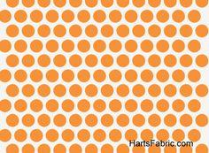Birch Organic Polka Dots Orange for baby room