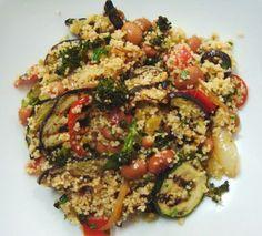 Salada de couscous e legumes grelhados Mais