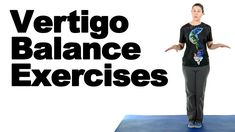 Vertigo is a feeling of dizziness/spinning that often comes on suddenly. These balance exercises may help with the balance issues vertigo can cause. How To Cure Vertigo, Vertigo Causes, Vertigo Relief, Yoga Balance Poses, Balance Exercises, Meneires Disease, Vertigo Exercises, Stretching Exercises, Doctor Of Physical Therapy