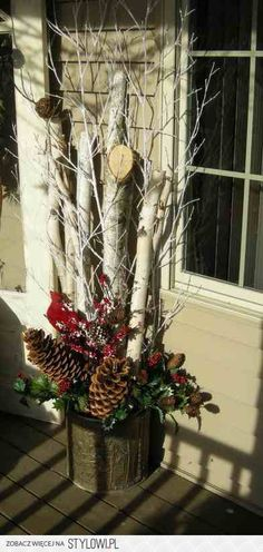 Cute idea for my front porch.