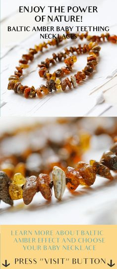 Pure Baltic Amber teething necklace for your baby.