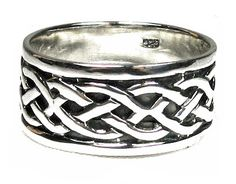 Sterling silver Celtic knot wedding band. Men's, women's and matching rings at Francesca Fine Jewelry. Beautiful Celtic jewelry!
