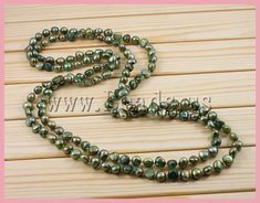 Natural Freshwater Pearl Necklace perlas de agua dulce Cultured Freshwater Pearl Nuggets green 9-11mm perlas naturales