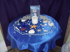Altar Dedicated to Goddess Yemaya in My Outdoor Sacred Space.