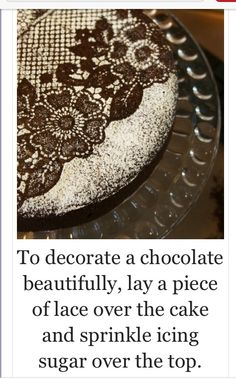 Easy cake decoration