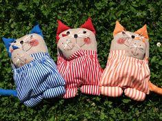 mačka - vreckárik s levanduľovou mačkou, by Iveta Sýkorová