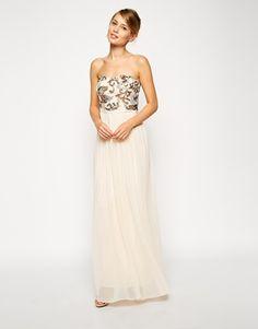 Agrandir ASOS - Maxi robe avec corsage à sequins