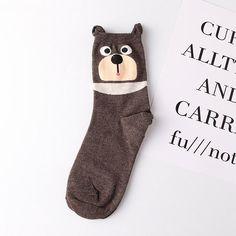 20402bde1 Women Cute Cartoon Ears Cat Pattern Socks Perspiration and Deodorization  Comfortable Socks is hot-sale