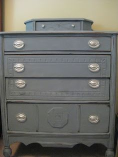 """How to use chalk paint to get the """"distressed"""" look. This was our very first try at something like this, which gives you a clue about how easy it really is!"""