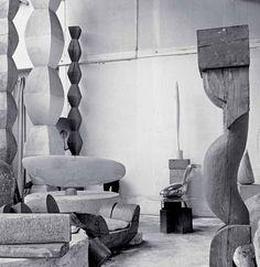 Constantin Brancusi's studio, Paris, 1955. Photograph by Alexander Liberman.  http://www.yatzer.com/brancusi-in-new-york-paul-kasmin-gallery