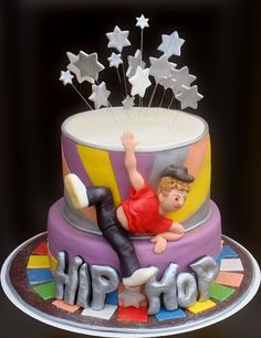 Hip Hop Cake 21st Party, 30th Birthday Parties, Party Party, Party Ideas, 12th Birthday Cake, Birthday Cake Girls, Teen Cakes, Cakes For Boys, Dance Cakes