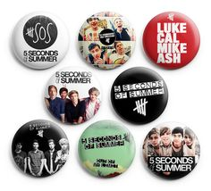 5 Seconds Of Summer Out of My Limit Pin Badge Buttons 1.25 inch Pinback 8pcs