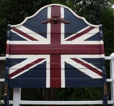 Union Jack Flag Headboard