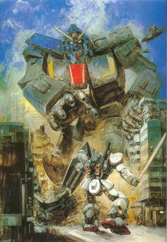 Z Gundam (MRX-009 Psyco Gundam vs Gundam RX78 MK II)