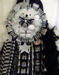 made by www.melzmumz.com   Deluxe Single Homecoming Mum with  Flower Mound High School
