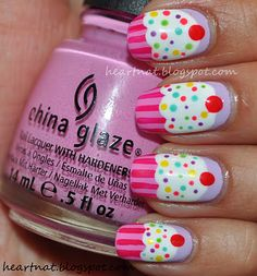 cupcake nails, my girls would love this. I love my Cosmo Liscence!