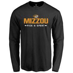 Missouri Tigers Custom Sport Wordmark Long Sleeve T-Shirt - Black