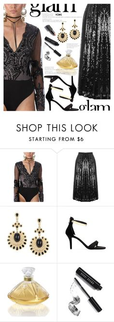 """""""glam"""" by meyli-meyli ❤ liked on Polyvore featuring Naeem Khan, Lalique, Bobbi Brown Cosmetics and Garance Doré"""