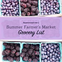Make the most of summer farmer's markets with LaurenConrad.com's Farmer's Market Grocery List!