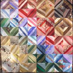 I love this scrapy quilt - pattern scrap string