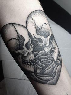Eternal Love #skull #heart #tats #tattoos #ink #inked #tatts #tattoo