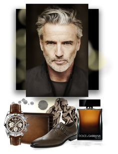 """""Silver"" age with young soul - Man #2."" by babysnail ❤ liked on Polyvore featuring Dolce&Gabbana, Mezlan, Breitling, men's fashion, menswear, brown, dolcegabbana, breitling and harryrosen"