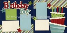 Birthday Boy Scrapbook Page Kit [birthdayboy13] - $7.99 :: Lotts To Scrap About - Your Online Source for Scrapbook Page Kits!