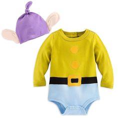 Disney Store Snow White Seven Dwarfs Dopey Baby Costume Outfit & Hat  6-9 months #DisneyStore