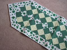 I took this table runner to the retreat but didn't get around to binding it.  However, I did come home and finish  it the next evening.  I ...