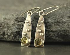 Metalwork earrings sterling silver earrings by SylviaArtGallery