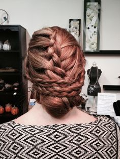 Twist-braid updo