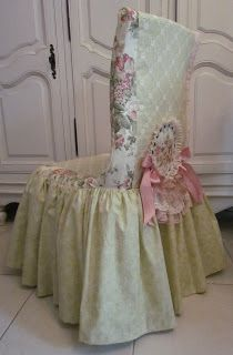 Angela Lace: Desk Chair Cover with Lace.
