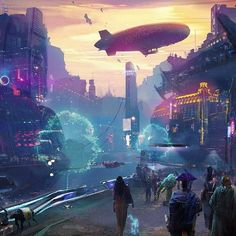 Fantasy art and Epic scifi Fantasy City, Fantasy World, City Landscape, Fantasy Landscape, Neon City, Rpg Cyberpunk, Cyberpunk Fashion, Science Fiction, Space Opera