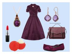 """""""Pretty in purple"""" by jujubee-964 on Polyvore featuring Fergalicious, LE VIAN, Gioelli Designs, MAC Cosmetics, Eos, women's clothing, women, female, woman and misses"""