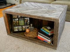 Chevron Pallet Coffee Table by lukechilds on Etsy  Sometimes i can't believe how much stuff is on etsy