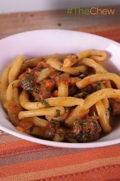 This delicious Italian Pici with Lamb Ragu will be the hit of your next dinner party!