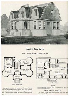 1909 Radford's Cement Houses: No. 8246 Cement homes like ours. Wonder who designed ours?