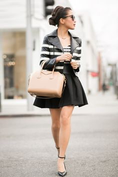 Double :: Striped jacket & Sequin stripes