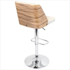 Galanti Bar Stool in Brown and Cream - BS-JY-GAL ZB+CR