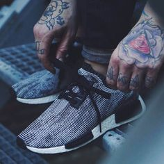 0d72731ef0ecf ADIDAS NMD Runner Core Black × Tattoos Tenis Adidas